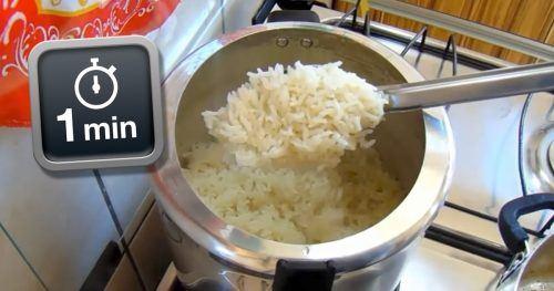 Como fazer arroz soltinho em apenas 1 minuto