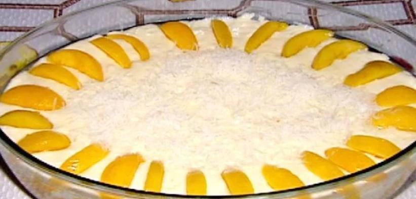 Creme gelado de pêssego
