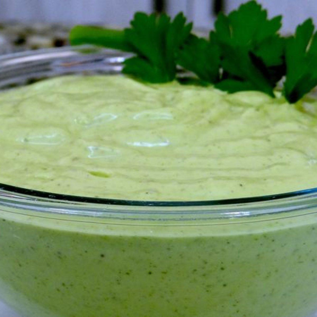 Molho verde delicioso