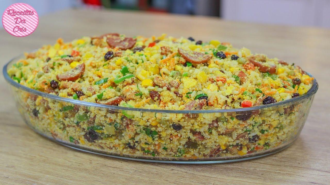 farofa de arroz  da cris