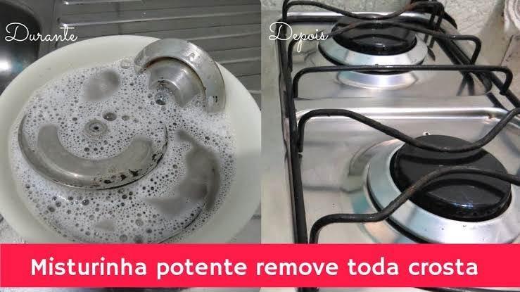Limpar os queimadores de fogão sem ariar