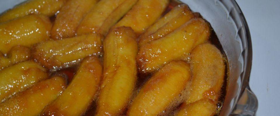 Bananas em calda