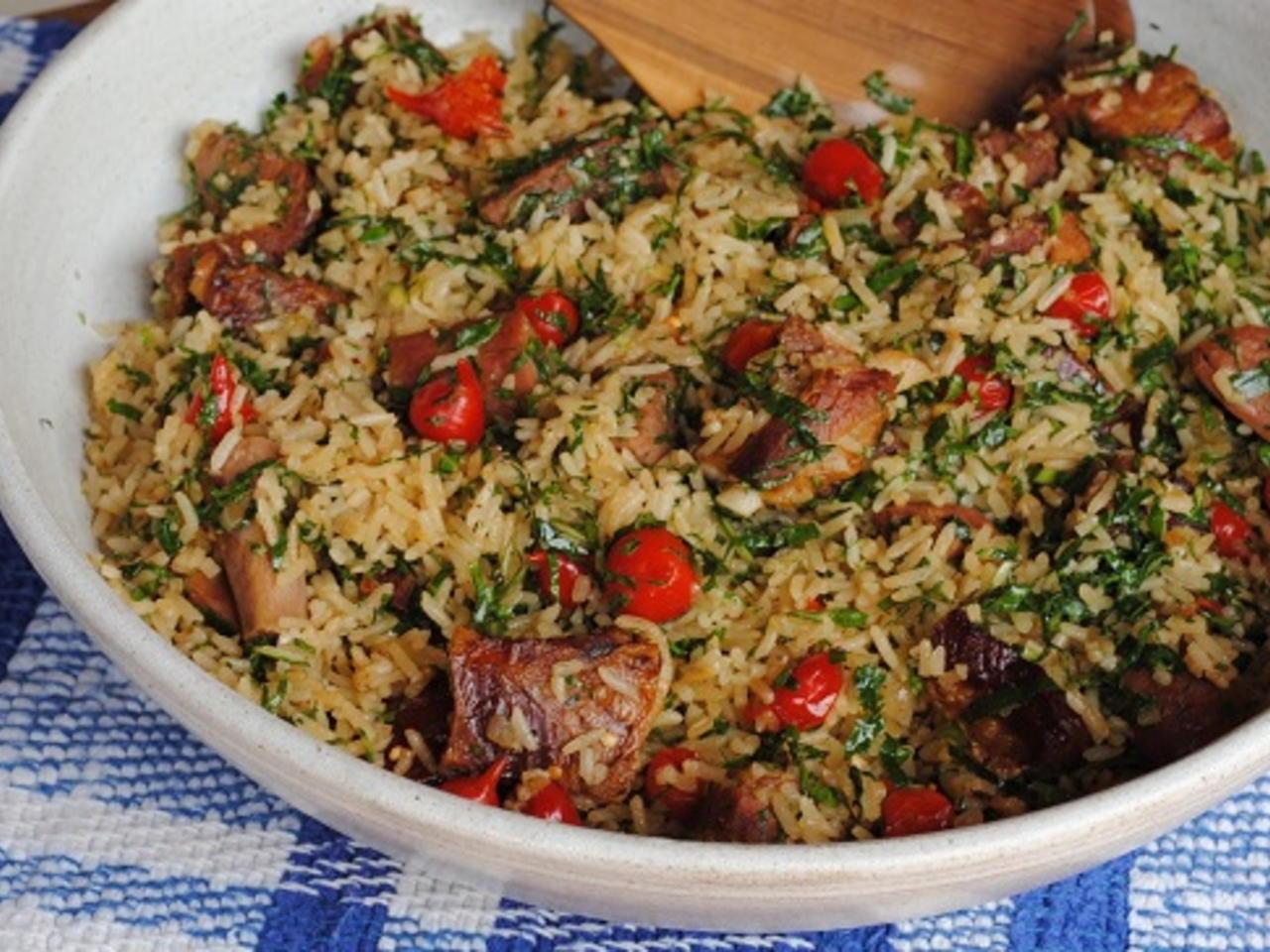 Costelada com arroz