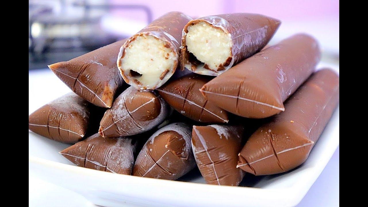 Geladinho na casquinha de chocolate