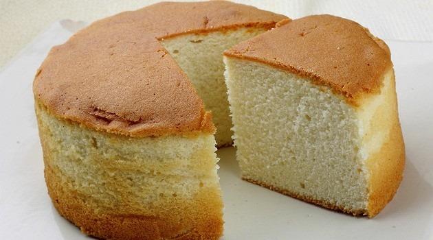 Pão de ló profissional com três ingredientes e sem fermento!