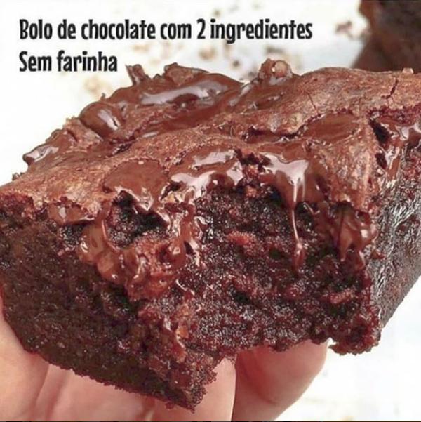 Bolo de chocolate e sem farinha