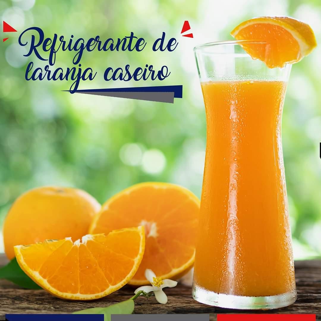 Refrigerante caseiro de laranja