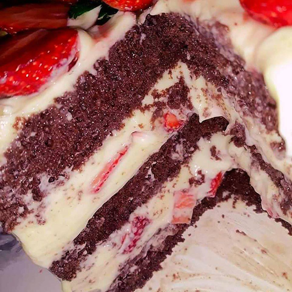 Receita de bolo chocolate de creme belga