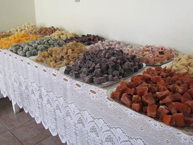 Receita de doces cristalizados