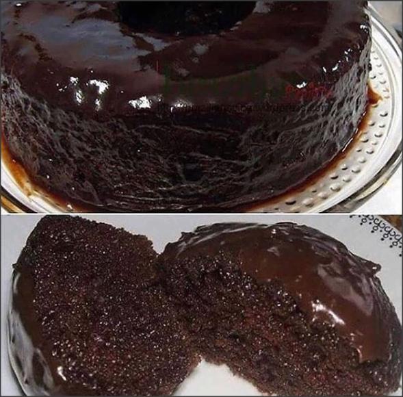 Bolo de chocolate de liquidificador facil