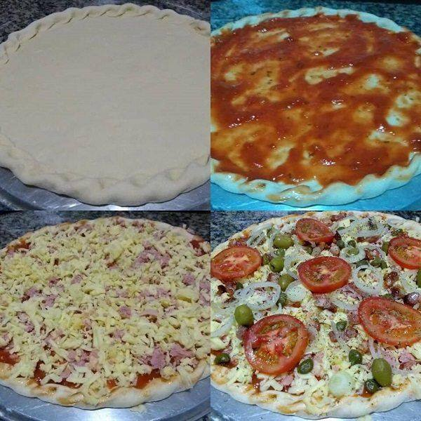 Pizza de feita com 2 ingredientes
