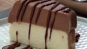 Pudim de coco e chocolate que não vai ao forno