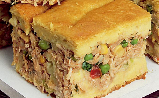 Torta de frango fácil e prática